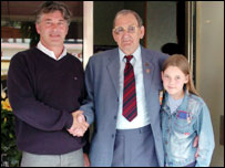 Eric Fournier with Tommy Paterson and his great-grandchild Georgia