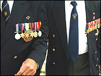 War medals on jackets