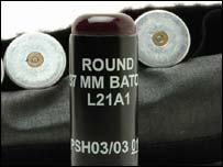 Baton gun ammunition