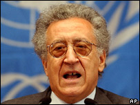 The United Nations envoy to Iraq, Lakhdar Brahimi