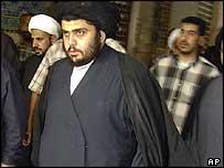 Moqtada Sadr in early May