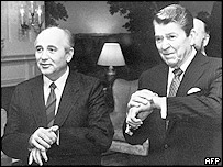 Горбачев и Рейган