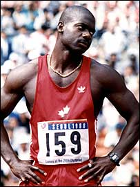 Canadian sprinter Ben Johnson