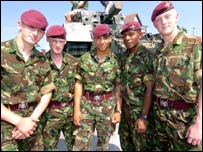 Soldiers from the Parachute Regiment
