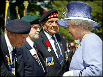 The Queen meeting Canadian veterans in Bayeux