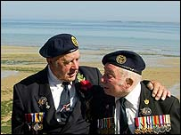 UK veterans in Normandy on Sunday