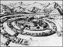 Dibujo de la ciudad perdida de Atl�ntida