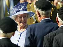 The Queen in Arromanches