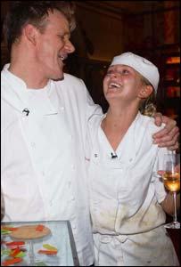 Jennifer Ellison with Gordon Ramsay