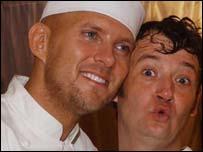 Matt Goss (left) with runner-up James Dreyfus