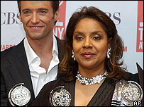 Hugh Jackman and Phylicia Rashad