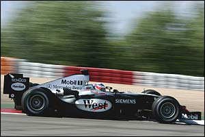Kimi Raikkonen in the old McLaren MP4-19
