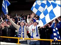 Celebrating Chester City fans