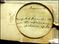 A notebook belonging to Sherlock Holmes creator Sir Arthur Conan Doyle