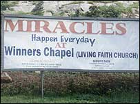 Billboard advertising miracles