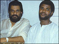 Patrick Ngcobo (right) with his Guru Dr K J Jesudas