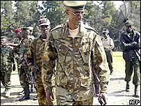 General Laurent Nkunda in Bukavu