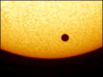 The black disc of Venus on the Sun, IFS