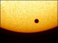 The black disc of Venus on the Sun, IFS
