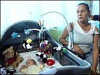 baby Andrew Jackson with his mother Yanela