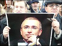 Khodorkovsky supporters