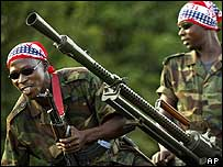 Rebel fighters in Ivory Coast