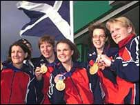 Scotland's medal winning curling team