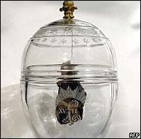 Jar containing royal heart