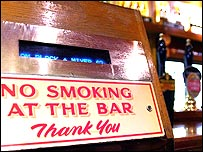 Pub no-smoking sign