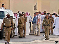 Saudi police at scene of shooting in Al-Khalij