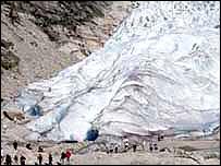 Norway's Briksdalsbreen Glacier (Image: Glacsweb)
