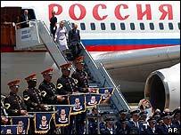 Russian President Vladimir Putin arrives