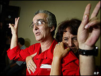 Cuban dissident Leonardo Miguel Bruzon Avila after his release from jail, with his sister