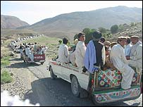 Lashkar gathering in Wana, South Waziristan