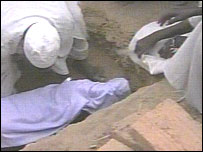 Child being buried