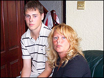 Karen Pervin and her son, Lewis