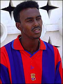 Abdi Bashir Abdi is one of four young Somalis heading for a training camp in Spain