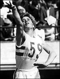 Mary Rand competes in the 1964 pentathlon in Tokyo
