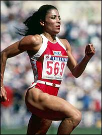 American sprinter Florence Griffith-Joyner in 1988