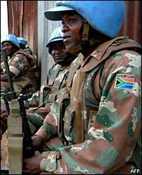 UN peacekeepers in Bukavu in eastern DR Congo