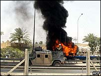 Attack on truck in Baghdad