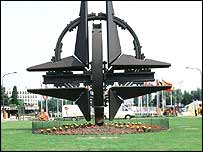 Sculpture at Nato headquarters