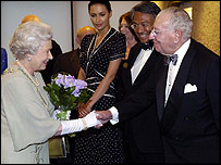 The Queen with Jack Lyons (Hon member of the LSO)