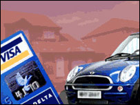 A car and a credit card