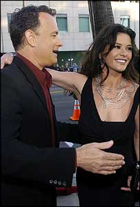 Tom Hanks and Catherine Zeta Jones at The Terminal premiere