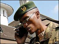Brig Gen Laurent Nkunda, accused of being the head of Rwanda's military structure in DR Congo