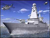 The Type 45 destroyer