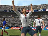 Screenshot of England International Football