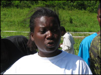 Marie-Josette Pierre, an aid worker with WFP