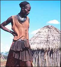 A Kenyan man in a village